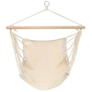 vidaXL Patio Hanging Hammock Cream Swing Chair Outdoor Porch Seat
