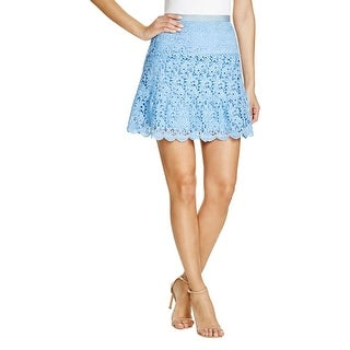 Aqua Womens A-Line Skirt Tiered Lace Lined