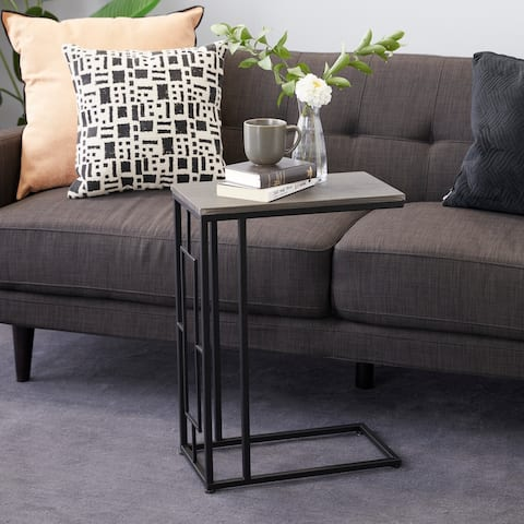 Iron Contemporary Accent Table