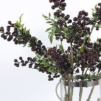 """G Home Collection Luxury Artificial Multi Berry Stem in Red 35"""" Tall"""