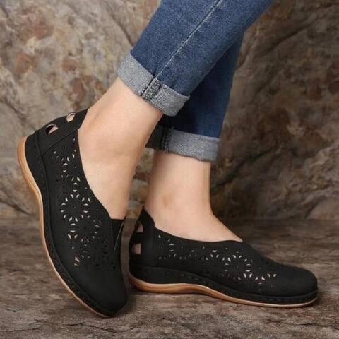 Women's Single Shoe Hollow Wedge Heel