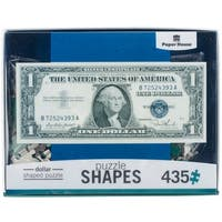 "Jigsaw Shaped Puzzle 435 Pieces 29.5""X12.5""-Dollar Bill"