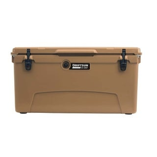 Driftsun 110 Quart Ice Chest / Heavy Duty Cooler / High Performance Commercial Grade Insulation (Tan)