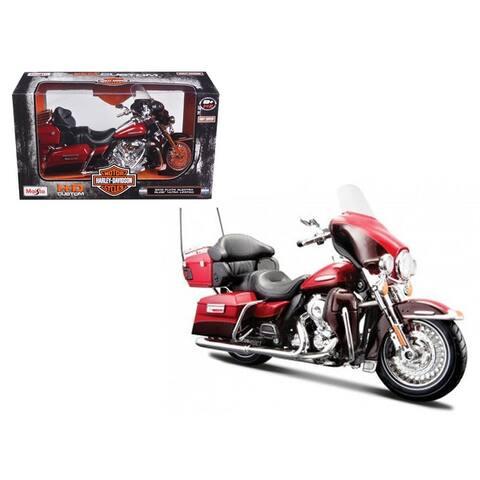 2013 Harley Davidson FLHTK Electra Glide Ultra Limited Red Bike Motorcycle Model 1/12 by Maisto