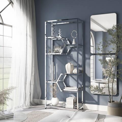 Furniture of America Bidell Modern 7-shelf Bookcase