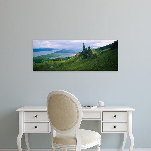 Easy Art Prints Panoramic Image 'Rocks on Mountains, Old Man Of Storr, Isle Of Skye, Scotland' Canvas Art