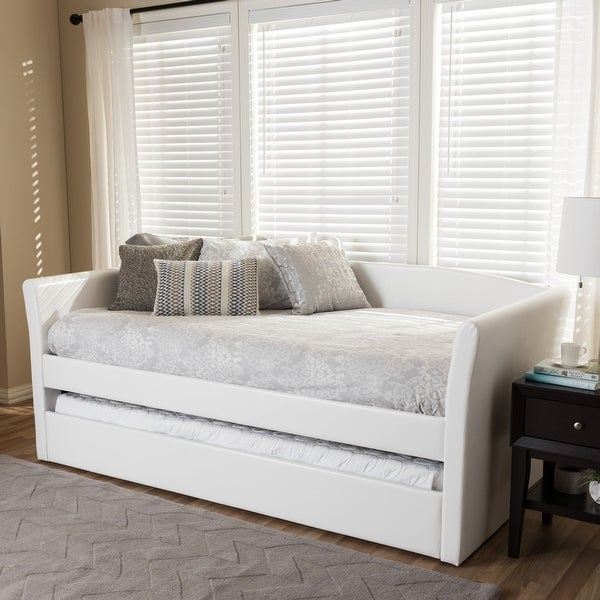 Baxton Studio Kassandra Contemporary Twin Daybed with Trundle Bed. Opens flyout.