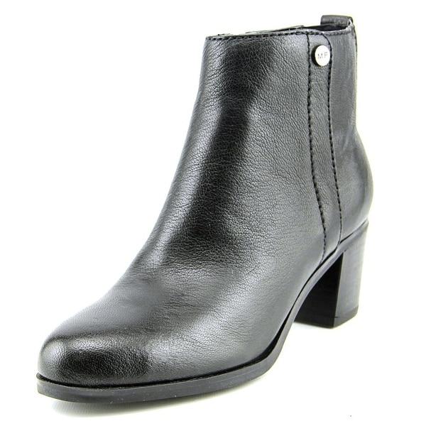 Marc Fisher Samona Women Round Toe Leather Black Ankle Boot