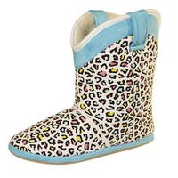 Cicciabella Women's Skittlex Leopard Print Boot Slippers