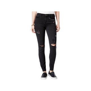 Vanilla Star Womens Juniors Skinny Jeans Mid-Rise Embroidered - 11