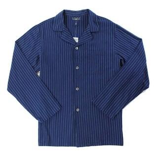 Club Room NEW Blue Mens Size Medium M Pinstriped Flannel Nightshirt