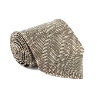 Tom Ford Mens Brown Wool Micro Square 4 Inch Wide Neck Tie - One size
