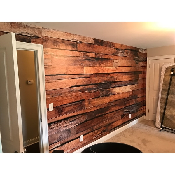 Shop Brewster DM150 Reclaimed Wood Wall Mural NA Free Shipping