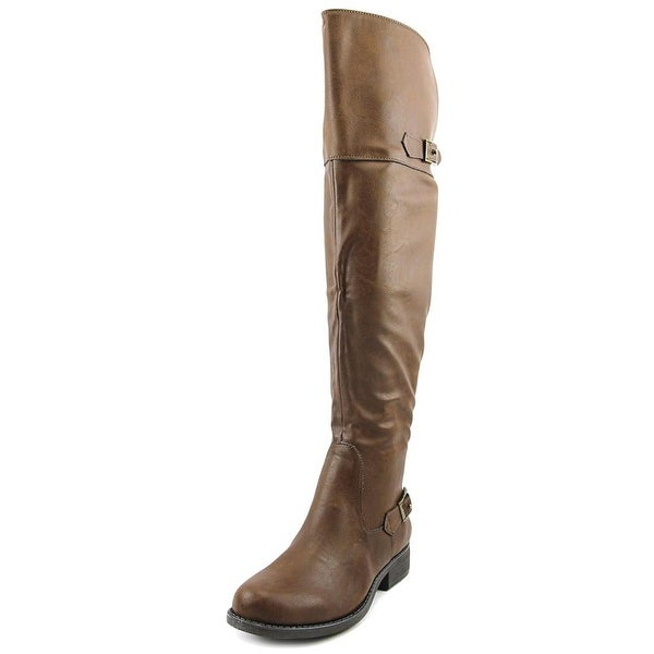 American Rag Aada Women Round Toe Synthetic Brown Over the Knee Boot