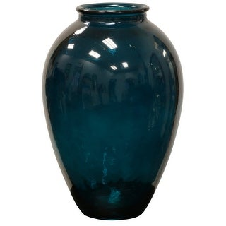 "StyleCraft SC-AS10126  11 3/8"" x 16 7/8"" Recycled Glass Vase"
