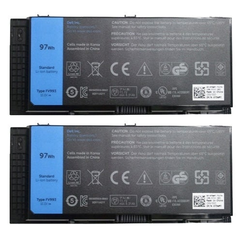 Battery for Dell 312-1178 (2-Pack) Replacement Battery
