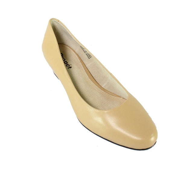 Propet NEW Beige Shoes Size 8.5(2E)X Pumps Taxi Leather Heels