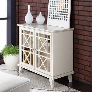 Copper Grove  Loches 32-inch Fretwork Entryway Cabinet (Antique White)