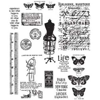 Stampers anonymous stamping find great scrapbooking deals shopping attic treasures tim holtz cling rubber stamp set malvernweather Images