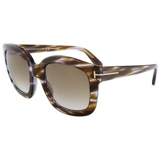 Tom Ford FT0279/S 47Z Christophe Purple Havana Square Sunglasses