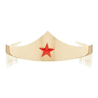 DC Comics Wonder Woman Golden Tiara with Red Gem Star
