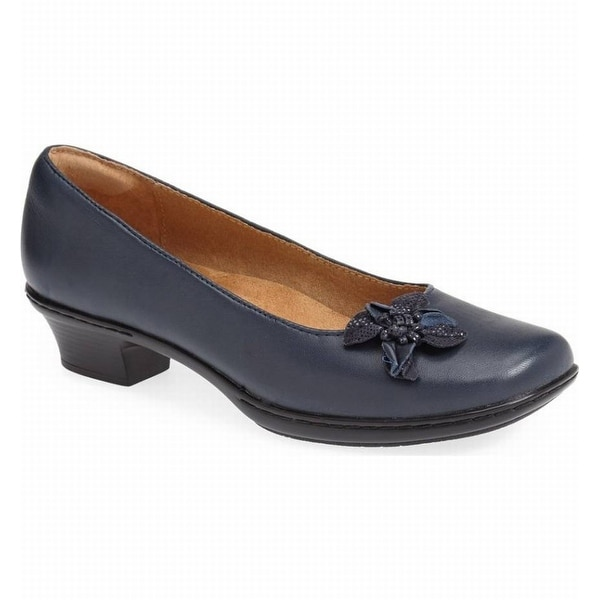 Softspots NEW Blue Women's Shoes Size 9.5N Star Leather Pump