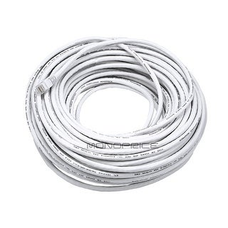 Link to Cat5e Ethernet Patch Cable RJ45 Stranded 350Mhz UTP Copper Wire 24AWG 100' White Similar Items in Cables & Connectors