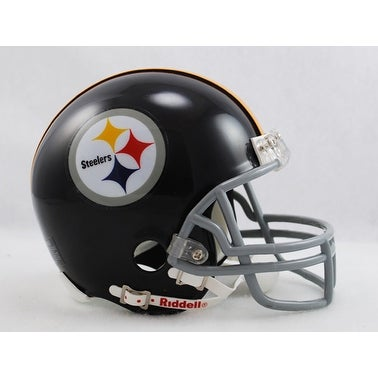 aa0d40f18a6 Shop Pittsburgh Steelers 19631976 Throwback Riddell Mini Football Helmet -  Free Shipping Today - Overstock - 13484713
