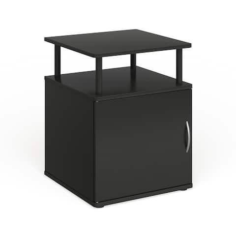 Porch & Den Mangin Black Utility Design Storage End Table