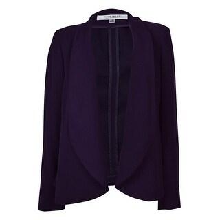 Nine West Women's Baroque Open Front Jacket - eggplant - 2