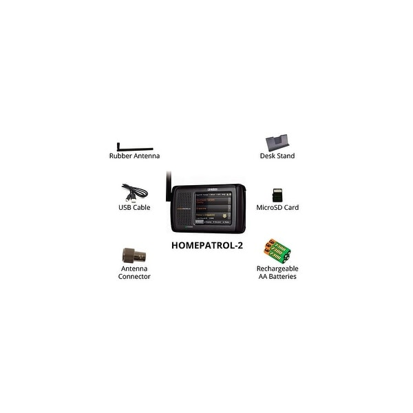 Uniden HomePatrol-2 Touchscreen Phase II Digital Scanner plus with 4 Rechargeable Batteries
