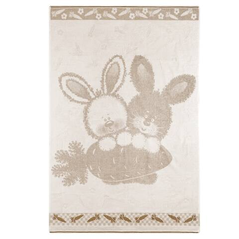 STP-Goods Bunnies Terry Blanket & Throw
