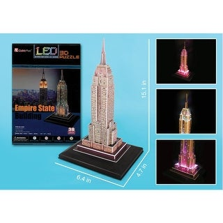 Great Places 3D LED Puzzle - Empire State Building Lights Up - multi
