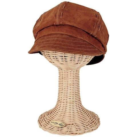 San Diego Hat Company Womens Suede Newsboy Cap - NoSize