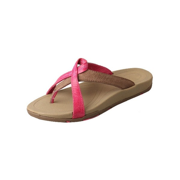 Twisted X Casual Shoes Womens Sandals Flip Flops Pink Stone