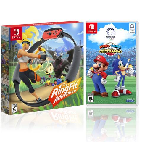Nintendo RingFit Adventure with Mario And Sonic At The Olympic Games - Black