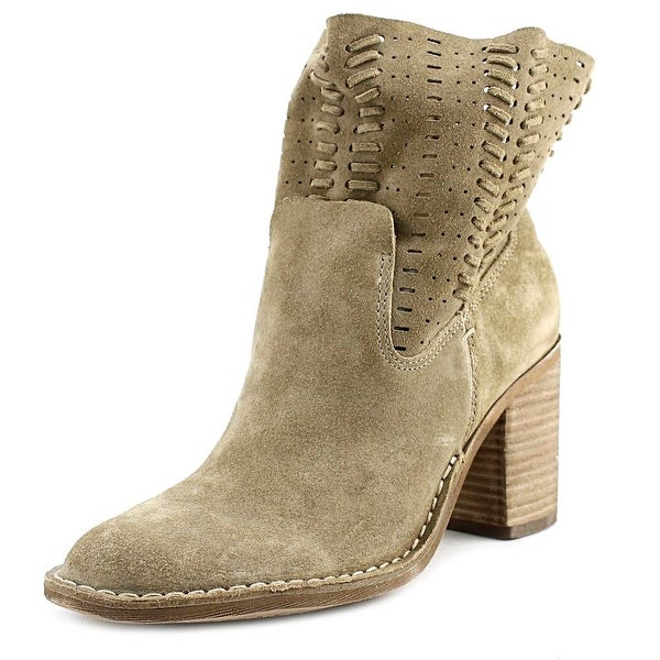Dolce Vita Landon Women Round Toe Suede Green Mid Calf Boot