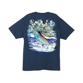 Guy Harvey Mens MARLIN AND BOAT 2