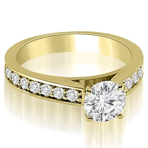 1.15 cttw. 14K Yellow Gold Round Cut Diamond Engagement Ring
