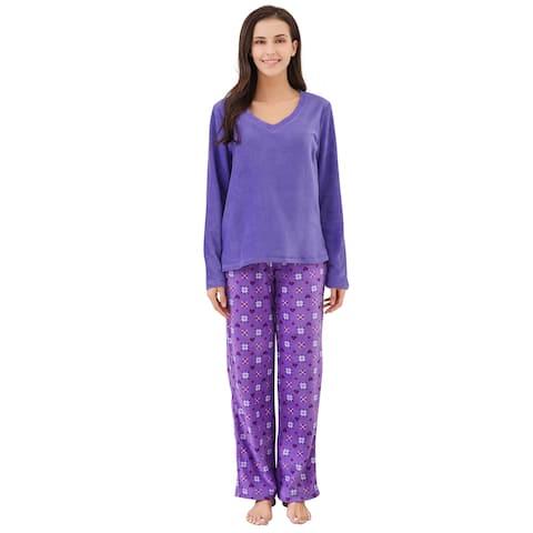 e0d323710bc5 Richie House Women's Soft and Warm Lightweight Pajama Sleepwear Set with  Pants