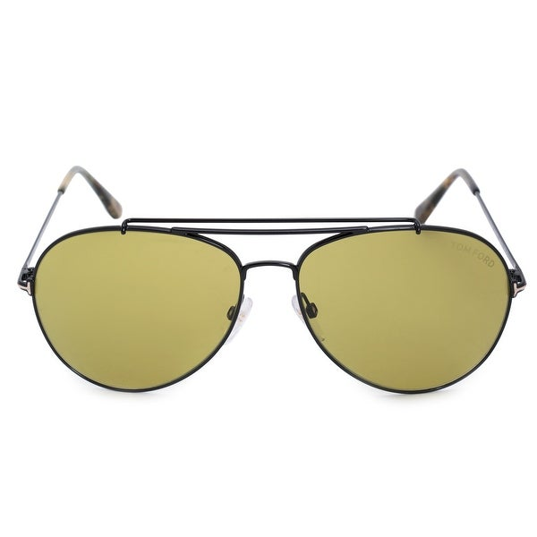 ef37b5ae810d Shop Tom Ford Indiana Aviator Sunglasses FT0497 01N 60 - On Sale ...