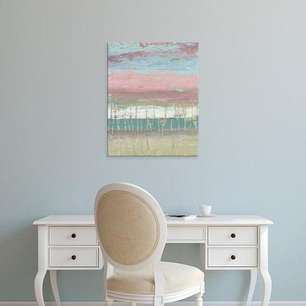 Easy Art Prints Jennifer Goldberger's 'Dusted Horizon I' Premium Canvas Art