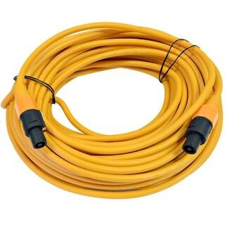 SEISMIC AUDIO 12 Gauge 100 Foot Orange Speakon to Speakon Speaker Cable 100'