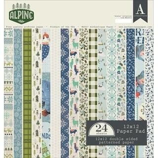"Authentique Double-Sided Cardstock Pad 12""X12"" 24/Pkg-Alpine, 12 Designs/2 Each"