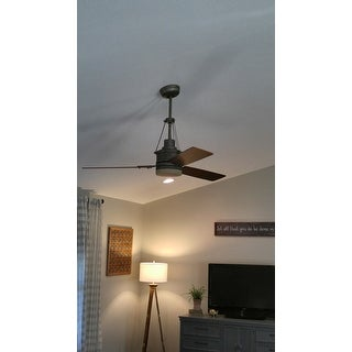 Shop emerson highpointe 54 inch vintage steel modern ceiling fan emerson highpointe 54 inch vintage steel modern ceiling fan with reversible blades silver aloadofball Image collections