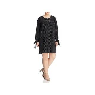 MICHAEL Michael Kors Womens Plus Party Dress Mini Printed - 1x