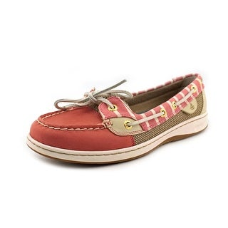 Sperry Top Sider Angelfish Women Moc Toe Leather Red Boat Shoe