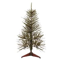 3' Warsaw Twig Artificial Christmas Tree - Unlit - green
