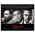 ''Thinker (Trio): Peace, Power, Respect'' by Anon African American Art Print (8 x 10 in.) - Thumbnail 0