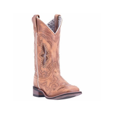 Laredo Western Boots Womens Spellbound Stud Accents Leather Tan